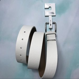 Michael Michael Kors XL White Belt